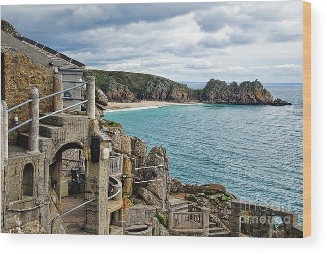 Minack Theatre Wood Print featuring the photograph Minack Theatre by Susie Peek
