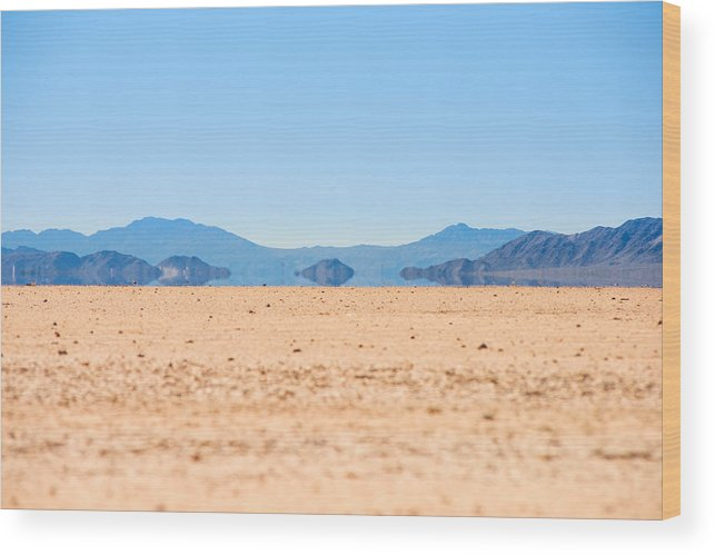 Landscape Wood Print featuring the photograph Mirage In The Death Valley by Alyaksandr Stzhalkouski
