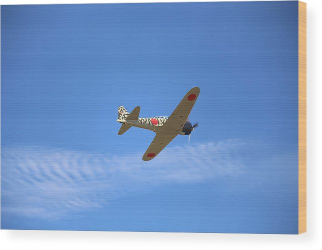War Wood Print featuring the photograph Mitsubishi A6m3-22 Reisen Zero by Paul Fell
