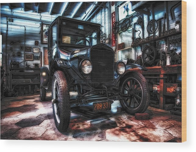 Ford Wood Print featuring the photograph Model T In Hdr by Michael White