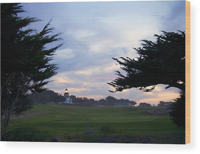 Monterey Bay Wood Print featuring the photograph Monterey Golf Course by Christopher Koski