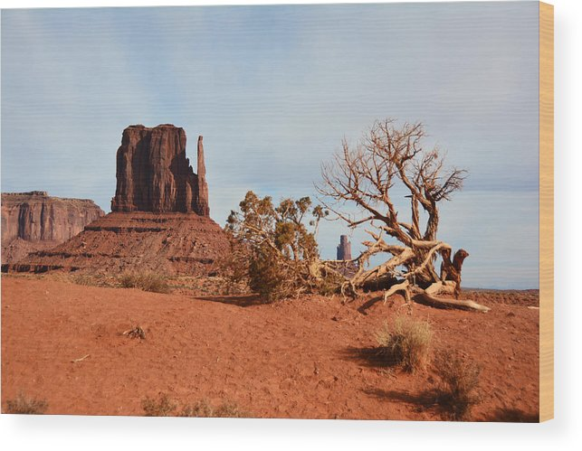 Monument Valley Wood Print featuring the photograph Monument Valley by Thomas and Thomas Photography
