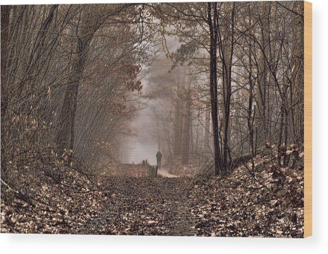 December Wood Print featuring the photograph Moody December The Feel by Marc Crutzen