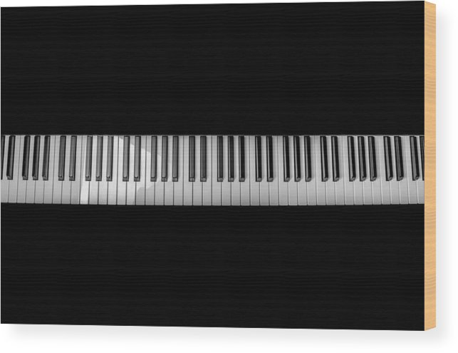Symbol Wood Print featuring the photograph Music Keyboard by FL collection