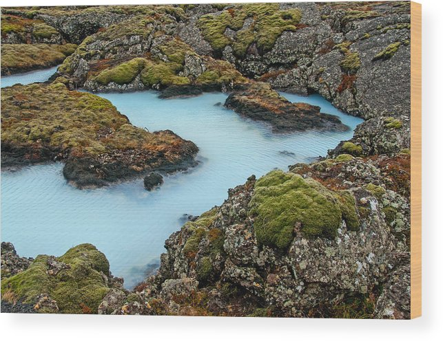 Iceland Wood Print featuring the photograph Mystic Pool by Jim Southwell