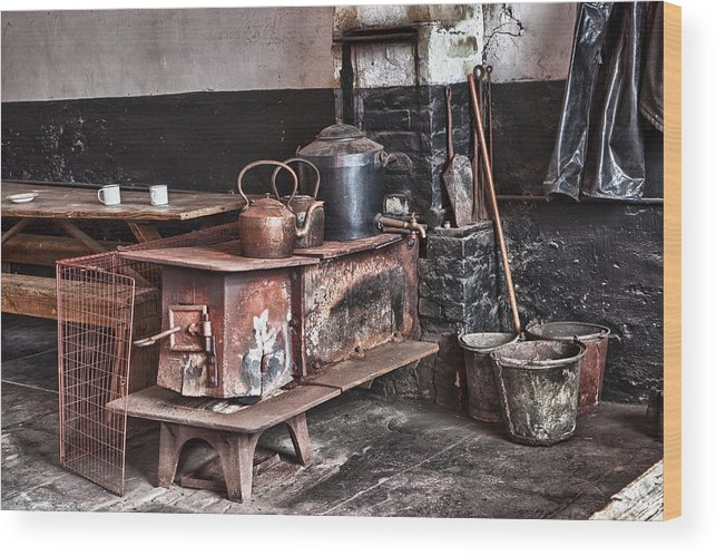 2012 Wood Print featuring the photograph National Slate Museum - Llanberis by Christine Smart