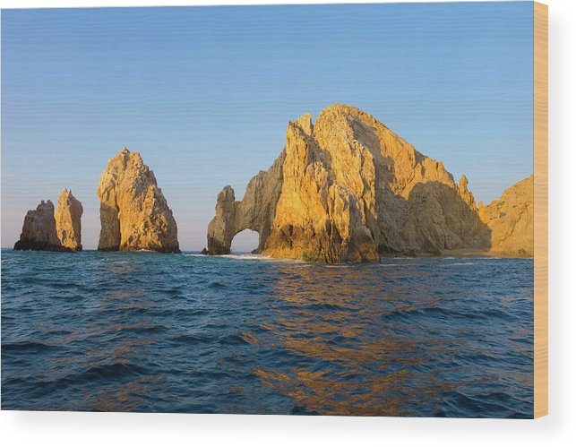 Tranquil Scene Wood Print featuring the photograph Natural Arch, Cabo San Lucas, Baja by Danita Delimont