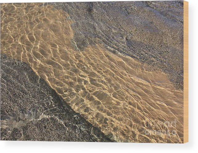 Lake Tahoe Wood Print featuring the photograph Nature Abstract - Clear Lake Tahoe Water by Carol Groenen