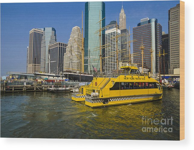 Water Taxi Wood Print featuring the photograph New York Water Taxi by Zbigniew Krol