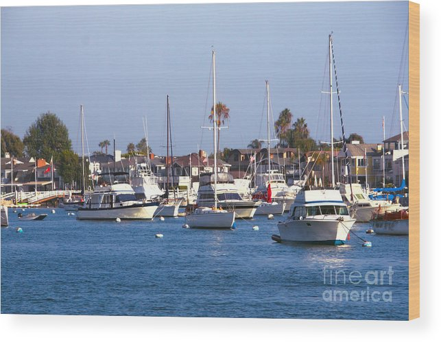 Harbor Wood Print featuring the photograph Newport Beach Harbor by Loretta Jean Photography
