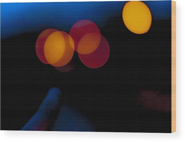 Color Wood Print featuring the photograph Night Bokeh Spots by Yevgeni Kacnelson