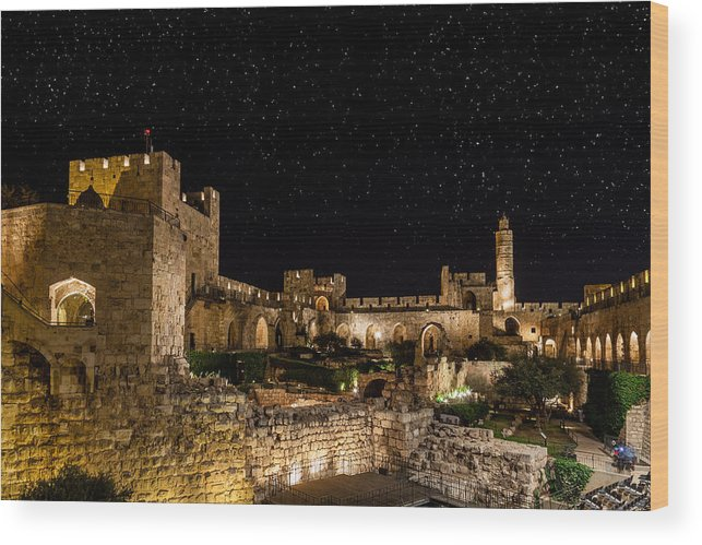 Israel Wood Print featuring the photograph Night In The Old City by Alexey Stiop