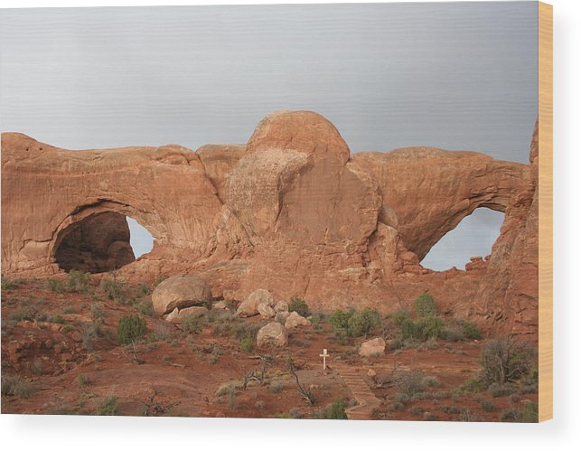 Window Wood Print featuring the photograph North And South Window Arches Np by Christiane Schulze Art And Photography