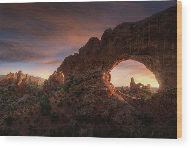 Utah Wood Print featuring the photograph North Windows by Juan Pablo De
