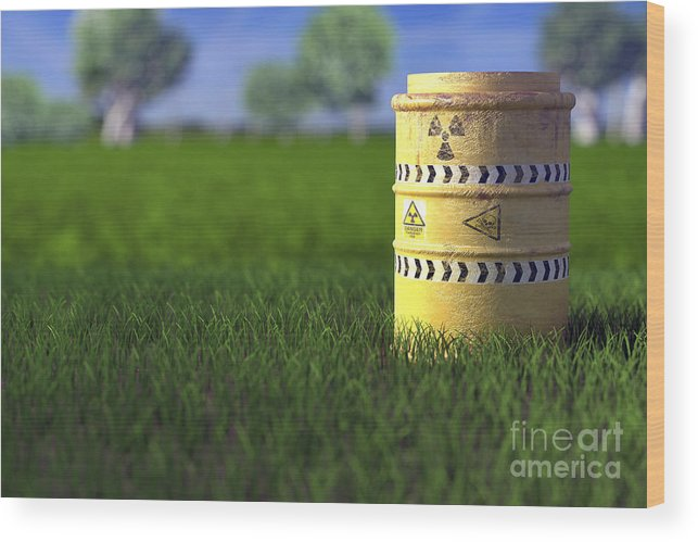 Barrel Wood Print featuring the photograph Nuclear Waste by Science Picture Co