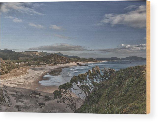Beach Wood Print featuring the photograph Ocean Beach At Sunrise by Jeremy Bartlett