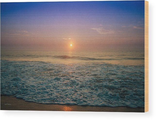 Ocean City Wood Print featuring the photograph Ocean City Sunrise by Crystal Wightman