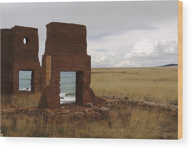 New Mexico Wood Print featuring the photograph Ocean Front by Greg Wells