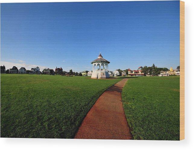 Gazebo Wood Print featuring the photograph Ocean Park by David Champigny