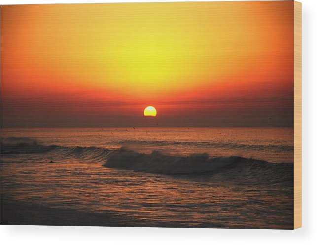 Morocco Wood Print featuring the photograph Ocean Sunset by Manu G