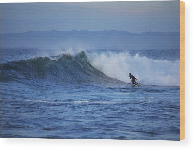 Monterey Bay Wood Print featuring the photograph October Surf 4 by Christopher Koski