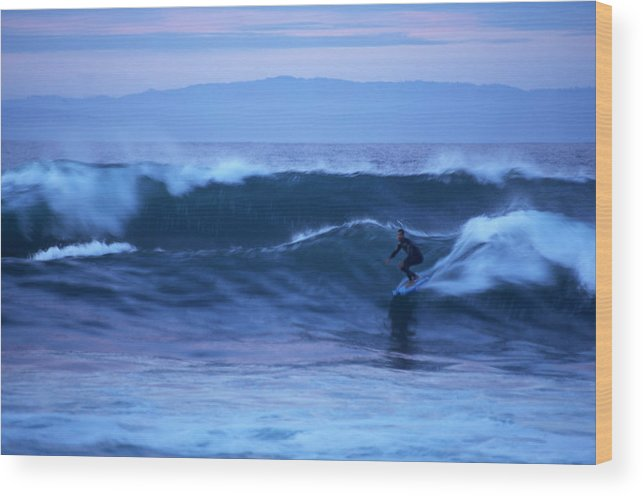 October Wood Print featuring the photograph October Surf by Christopher Koski