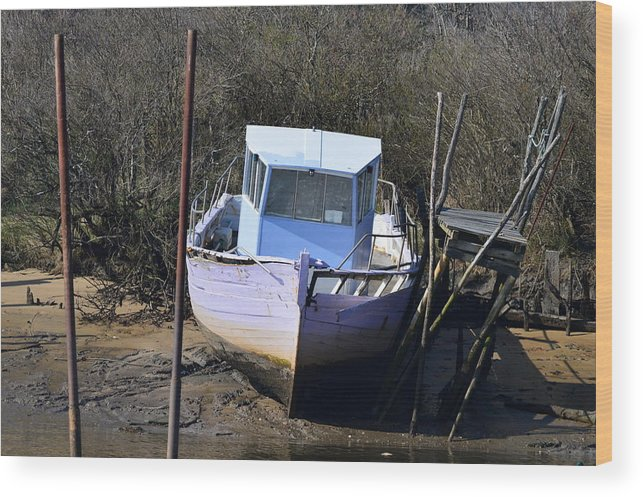 Boat Wood Print featuring the photograph Old Abandoned Boat by Bishopston Fine Art