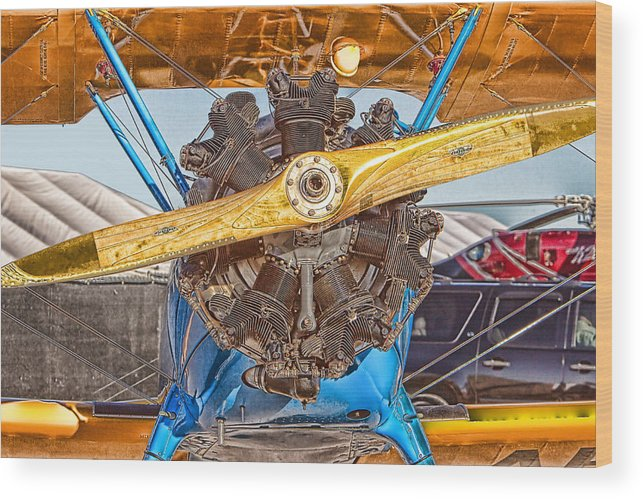 Biplane Wood Print featuring the photograph Old Biplane by Duane Angles