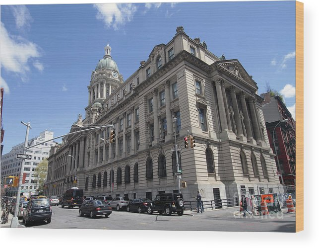 Nypd Wood Print featuring the photograph Old Nypd Headquarters by Steven Spak
