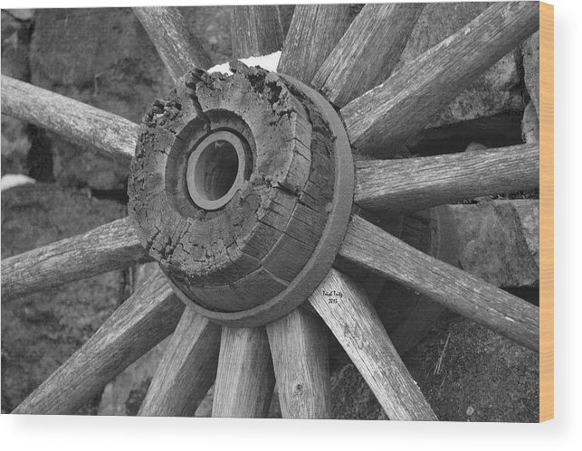Wagon Wood Print featuring the photograph Old Wheel by Trish Tritz