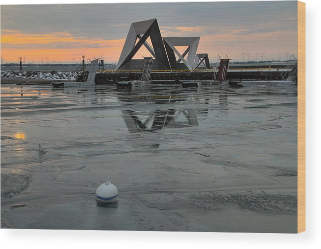 Ice Wood Print featuring the photograph Olympic Harbor Kingston by Jim Vance