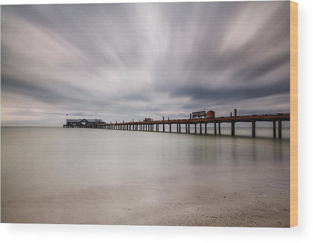 Usa Wood Print featuring the photograph On A Stormy Day by Claudia Domenig