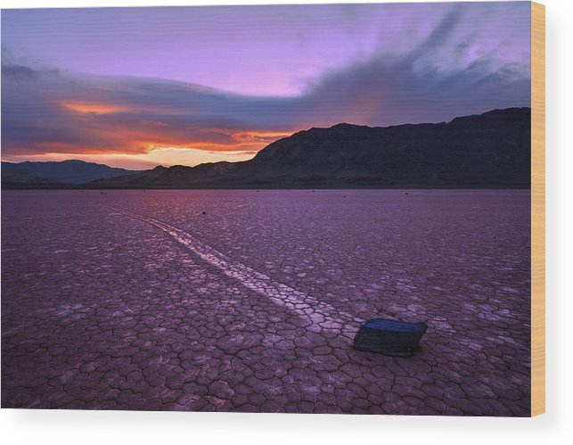 Death Valley Wood Print featuring the photograph On The Playa by Chad Dutson