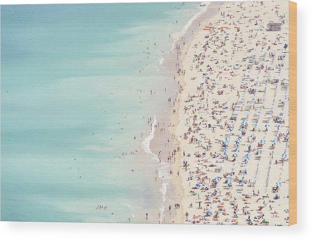Water's Edge Wood Print featuring the photograph Ondarreta Beach, San Sebastian, Spain by John Harper