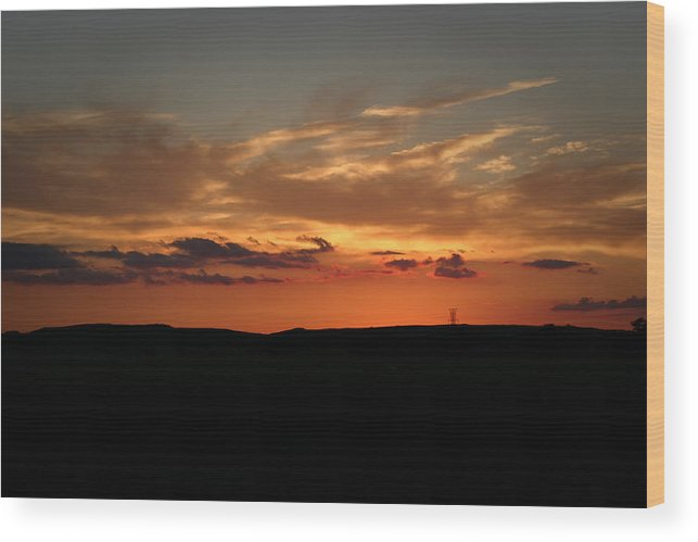 Sunset Photography Wood Print featuring the photograph One More For The Books by Ben Shields