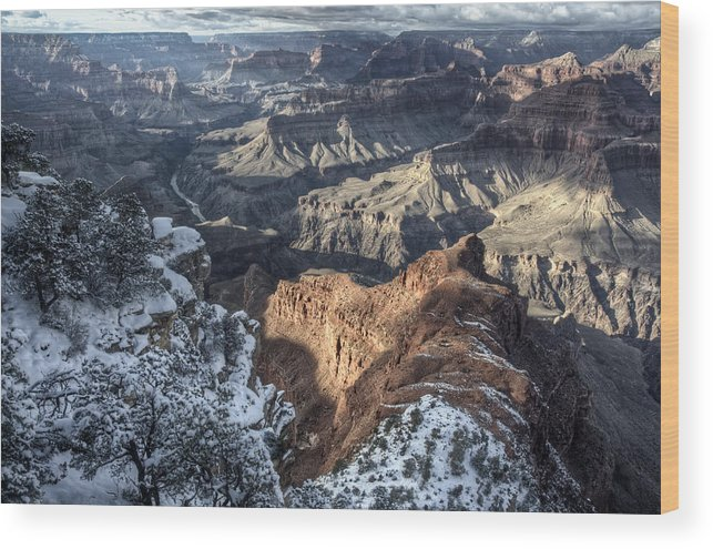 Grand Canyon Wood Print featuring the photograph Ongtupqa by Heath Yonaites