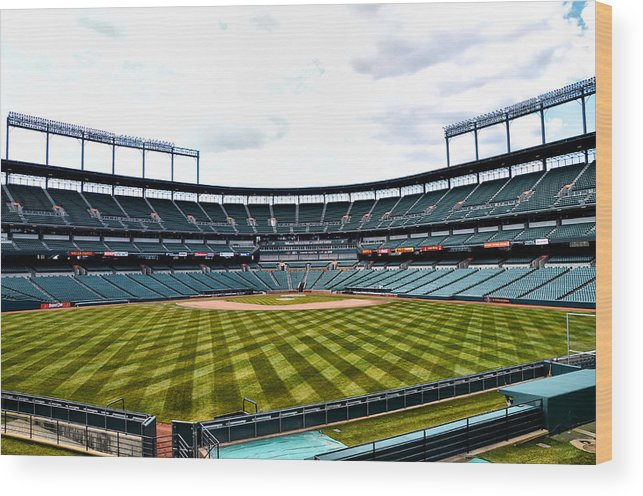 Oriole Wood Print featuring the photograph Oriole Park At Camden Yards by Bill Cannon