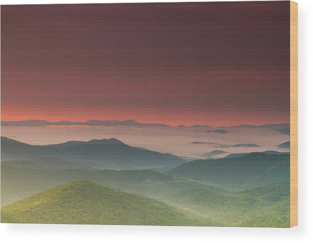 Steven Freedman Wood Print featuring the photograph Other Worldly Sunrise by Steven Freedman