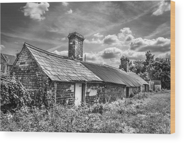 Outbuildings Wood Print featuring the photograph Outbuildings. by Gary Gillette