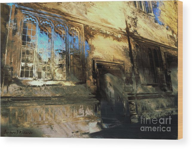 Europe Wood Print featuring the photograph Oxford School Of Music by Barbara D Richards