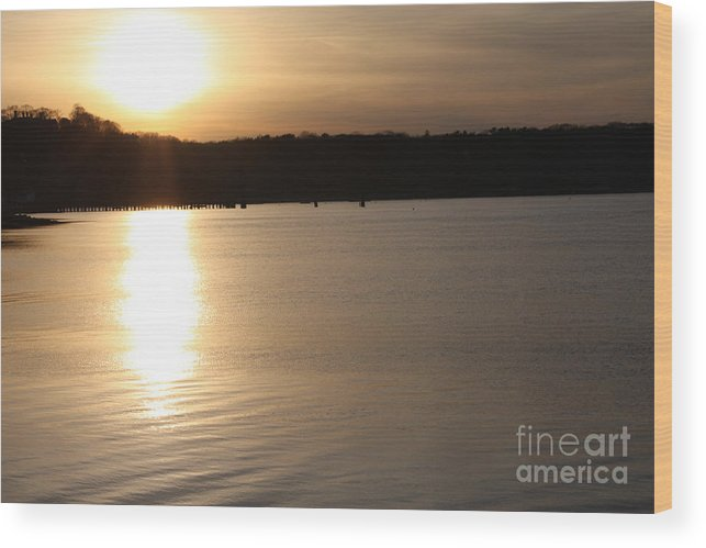Oyster Bay Sunset Wood Print featuring the photograph Oyster Bay Sunset by John Telfer