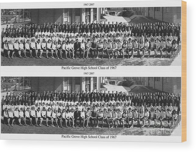 Pacific Grove Wood Print featuring the photograph Pacific Grove California High School Class Of 1967 by California Views Mr Pat Hathaway Archives
