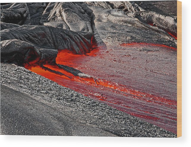 Lava Wood Print featuring the photograph Painting The Town Red by Jim Southwell