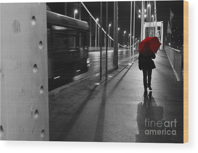 Bridge Wood Print featuring the photograph Parallel Speed by Simona Ghidini