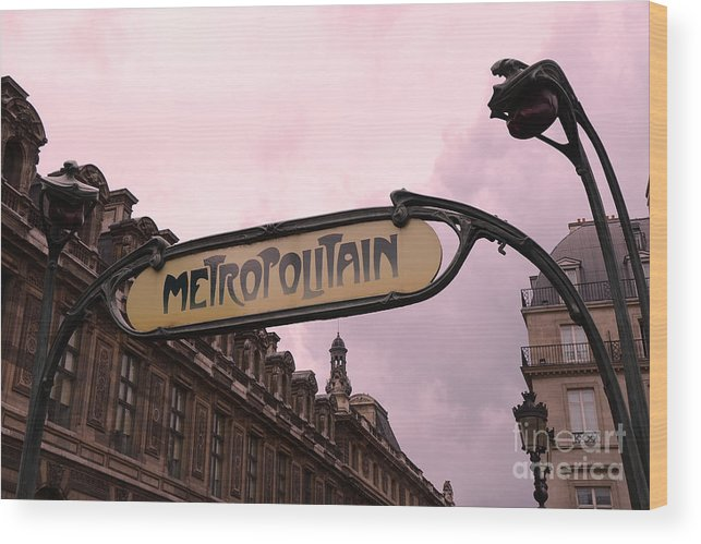 Paris Louvre Metro Sign - Paris Metropolitan Sign Art Nouveau ...
