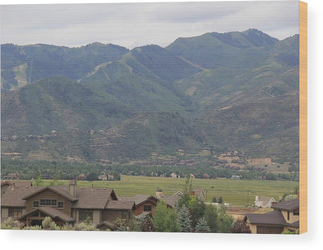 Landscape Wood Print featuring the photograph Park City Utah by Horst Duesterwald