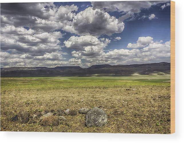 Clouds Wood Print featuring the photograph Passing Clouds by Colby Drake