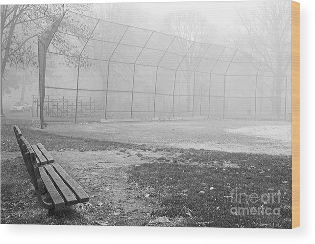 Baseball Wood Print featuring the photograph Past Time by Scott Ohlman