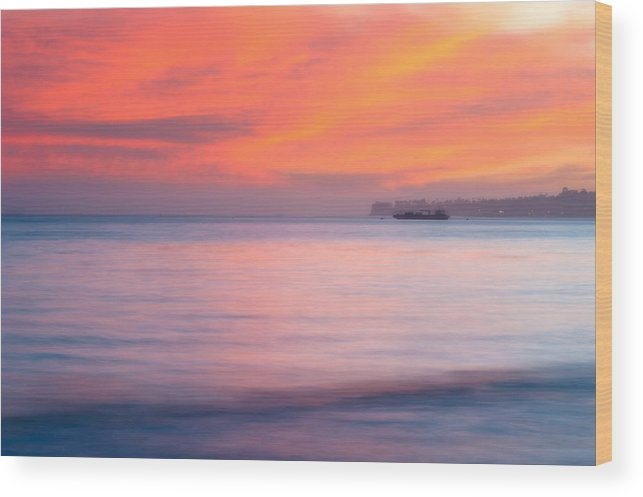 Soft Wood Print featuring the photograph Pastel Sunset by Joan Herwig