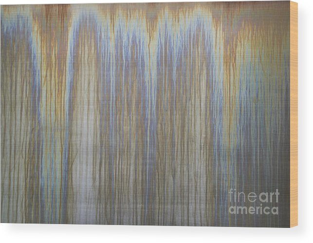 Color Wood Print featuring the photograph Patina On Cor-ten Steel by David Parker